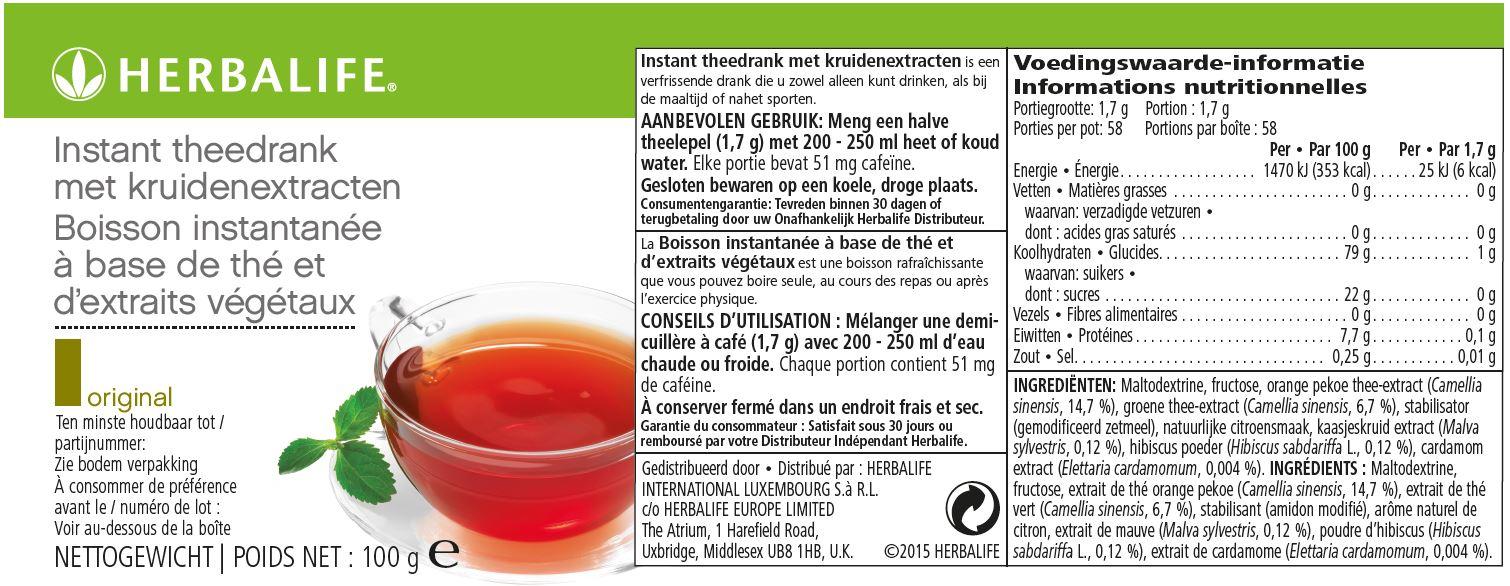 Herbalife Thee Original - 100 gram