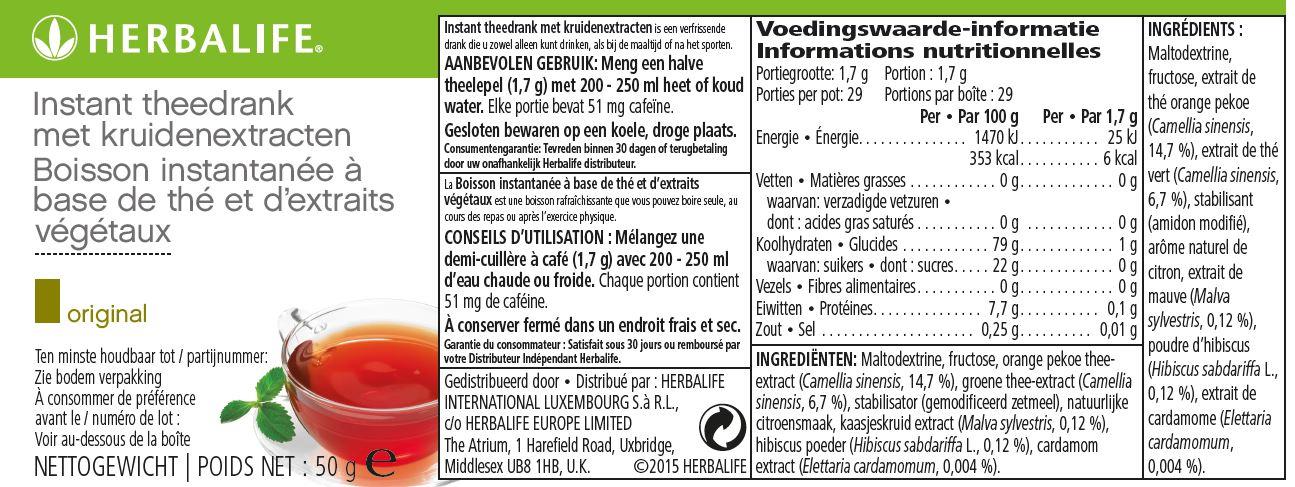 Herbalife Thee Original - 50 gram