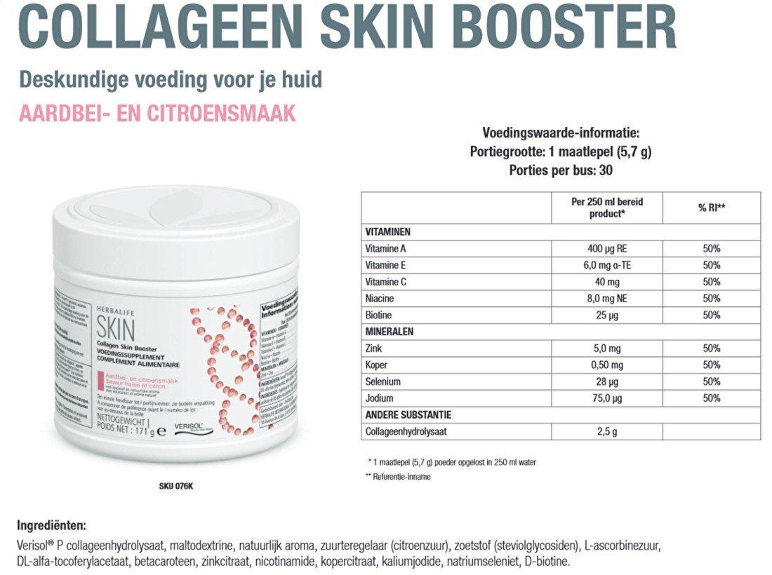 SKIN Collageen Skin Booster Ingrediënten
