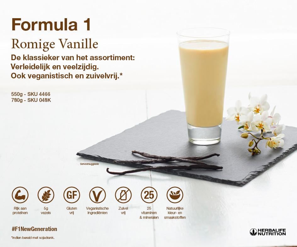 Formula 1 Voedingsshake Romige Vanille Smaak