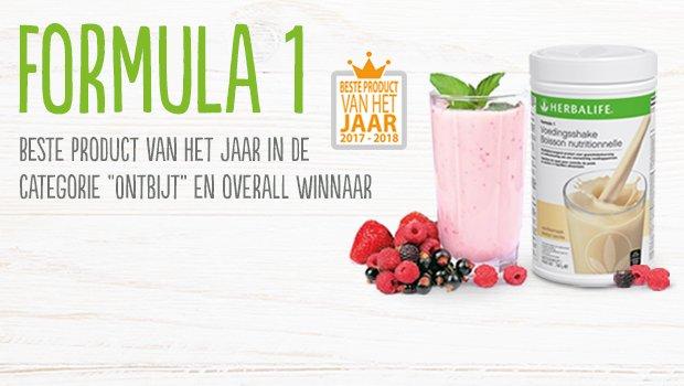 Herbalife F1 Shake Product van het jaar in de categorie ontbijt