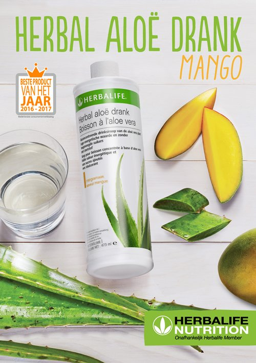Herbal Aloe Drank Mango product van het jaar 2016-2017