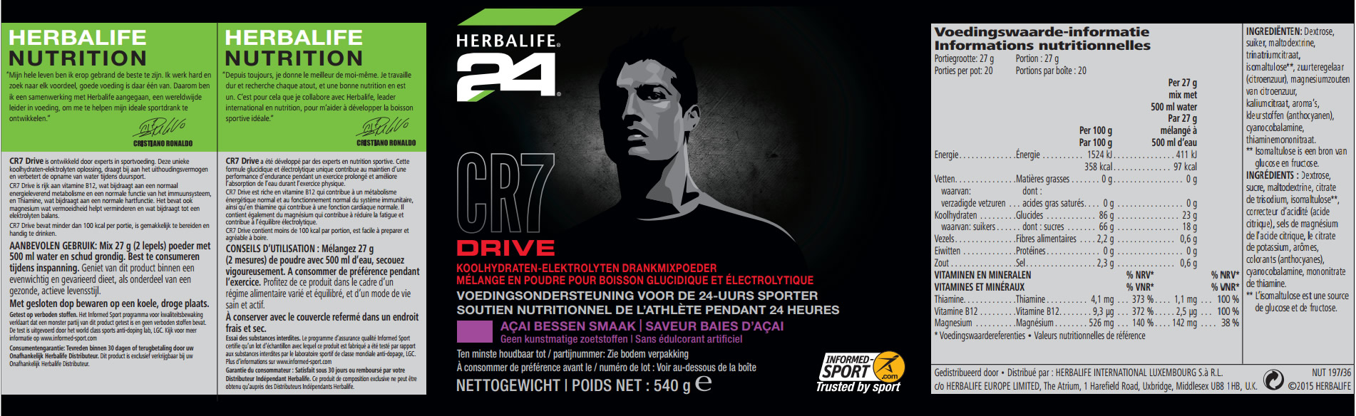 CR7 Drive Label Nederlands