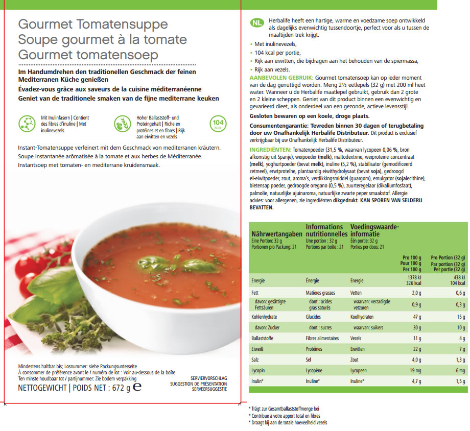 Gourmet Tomatensoep Label