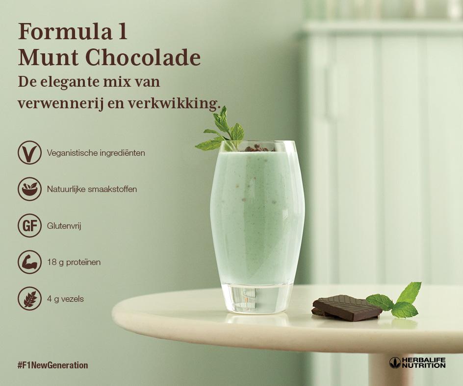 Herbalife Formula 1 Munt Chocolade