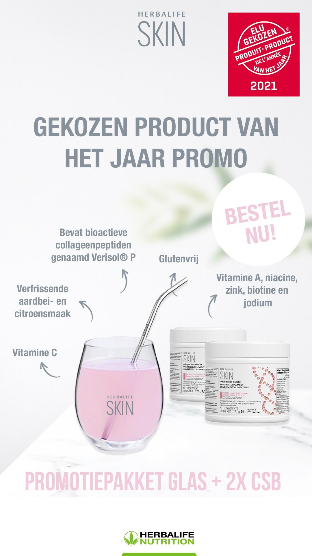 Collageen Skin Booster benoemd tot Gekozen Product van het Jaar in België