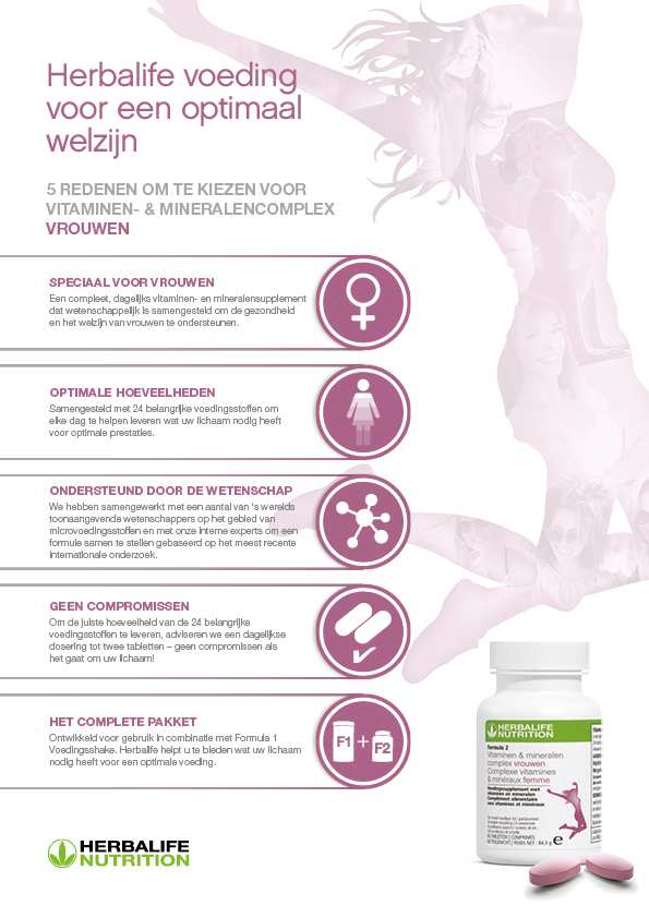 Herbalife Formula 2 Vitaminen Mineralen Complex Vrouwen